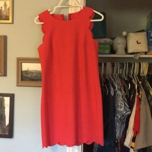 Jcrew scalloped fitted dress